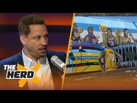 Broussard and Mcintyre on the new LeBron mural in Los Angeles   NBA   THE HERD