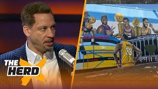 Broussard and Mcintyre on the new LeBron mural in Los Angeles | NBA | THE HERD