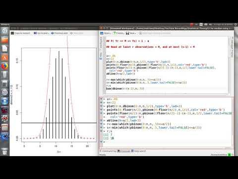 Using R for a 95% CI for Population Median using Sample Order Statistics