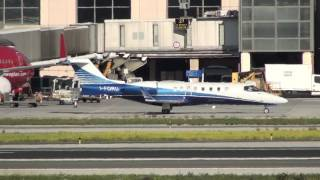 Private Bombardier Learjet 45 I-FORU Taxing Malaga LEMG