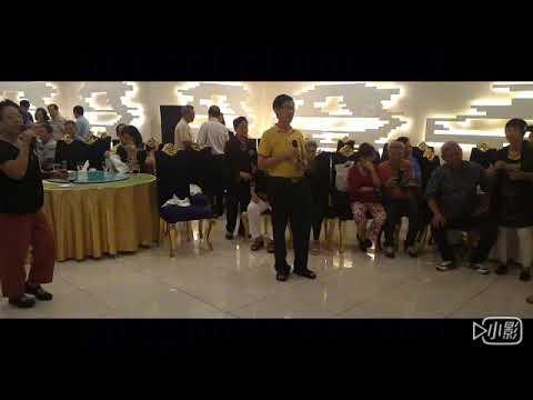 柬埔寨磅针省旧培华校友王汉明先生(校友)伉俪、许先进先生(校友)伉俪在金边著名的百适河歺厅宴請老师、校友晚歺后大家唱歌、跳舞尽欢!