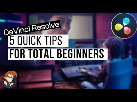 5 Top Da Vinci Resolve Tips for Beginners