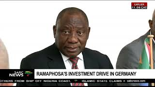 President Ramaphosa's investment drive in Germany