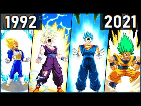 Evolution of SSJ Transformations (1992-2021) 超サイヤ人 変身シーン [SSJ-SSJ2-SSJ3-SSJ4-SSG-SSGSS-LSSJ] |