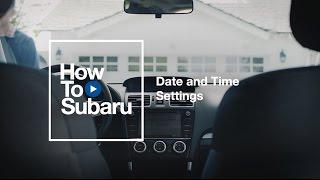 Субару-в: настройки дати та часу