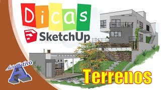 Criar Terrenos no SketchUp (Parte1) - Ferramentas Caixas de Areia - Autocriativo