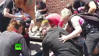 Aftermath of car plowing into protesters at far-right rally in Charlottesville, Virginia (EXCLUSIVE)