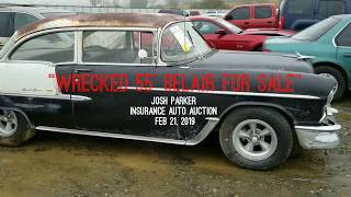 WRECKED 1955 Belair Brings over $16k at Auction