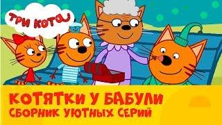 Три кота | Сборник серий с любимой бабулей | СТС Kids