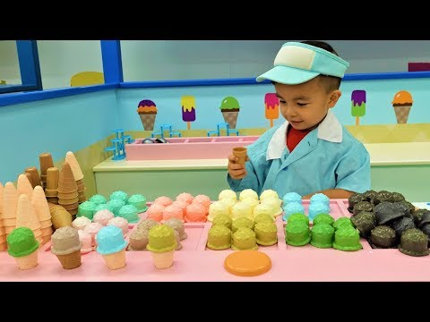 Fireman Doctor Chef Ice Cream Shop Kids Pretend Play With CKN