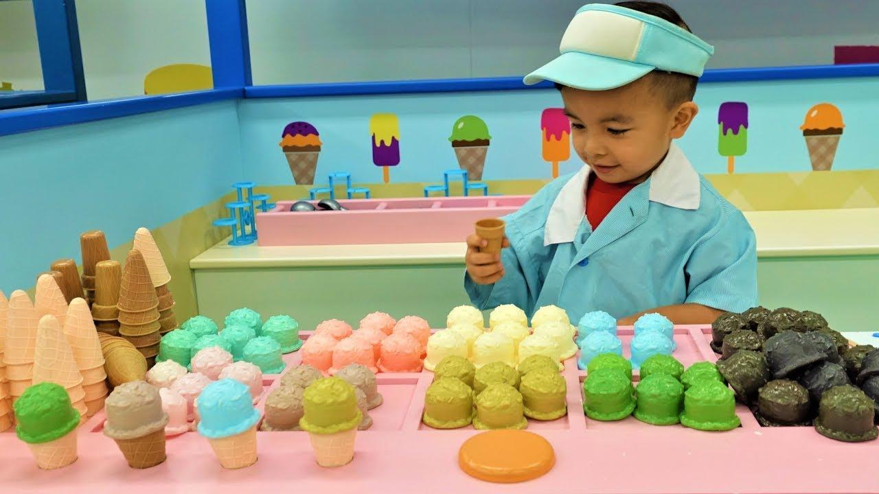 Fireman Doctor Chef Ice Cream Shop Kids Pretend Play With CKN