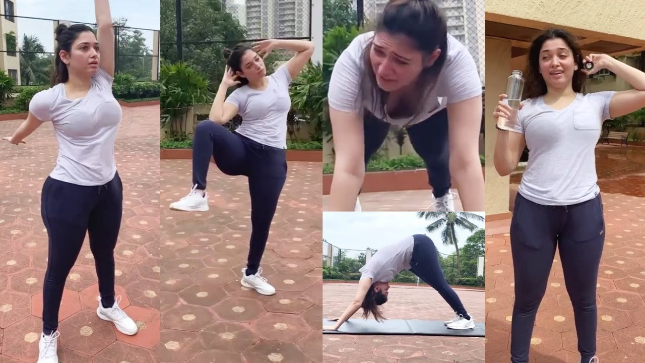 Download Tamanna Bhatia Full Body Full Workout Session In Outdoors #fitness #workout