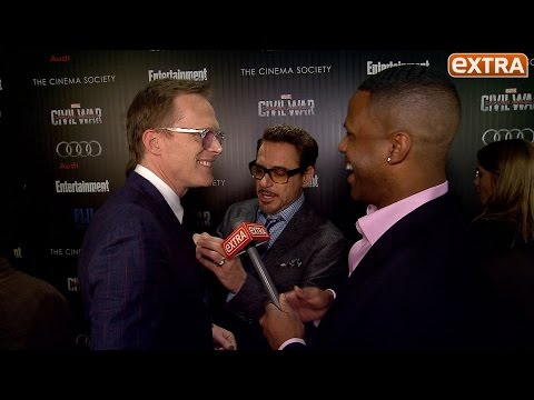 Robert Downey Jr. Crashes Our Paul Bettany Interview, Trash Talking & Tie Fixing Ensue