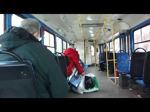 Неадекватная бабка в 14-м трамвае и все \