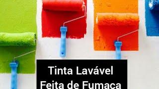 Tinta Caseira Lavável para uso Geral Feita de Fumaça de Vela