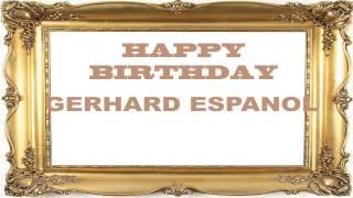 Gerhard espanol   Birthday Postcards & Postales - Happy Birthday