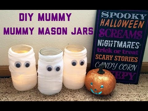DIY Mummy Mason Jars | Halloween Crafts