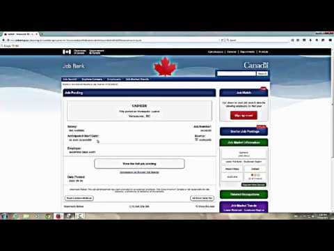 Using Government Of Canada Job Bank
