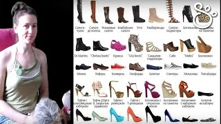 видео Виды обуви. Названия и классификация современных видов обуви