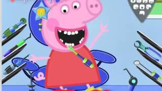 Свинка Пеппа у стоматолога - обзор игры - видео для детей(У свинки Пеппы отвратительные зубы. Вернем свинке ослепительную улыбку?, 2015-10-21T06:07:52.000Z)