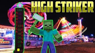 Monster School: High Striker at Circus - Minecraft Animation