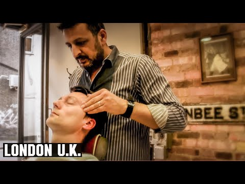 Turkish Barber Head, Face, and Arm Massage - HairCut Harry experiences Jack The Clipper, London U.K.