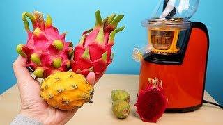 Сок из разных плодов Кактуса! Какой самый вкусный? Питахайя, ДрагонФрут. Бедная соковыжималка!