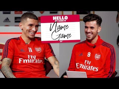 Lucas Torreira & Dani Ceballos | Name Game | Episode 5