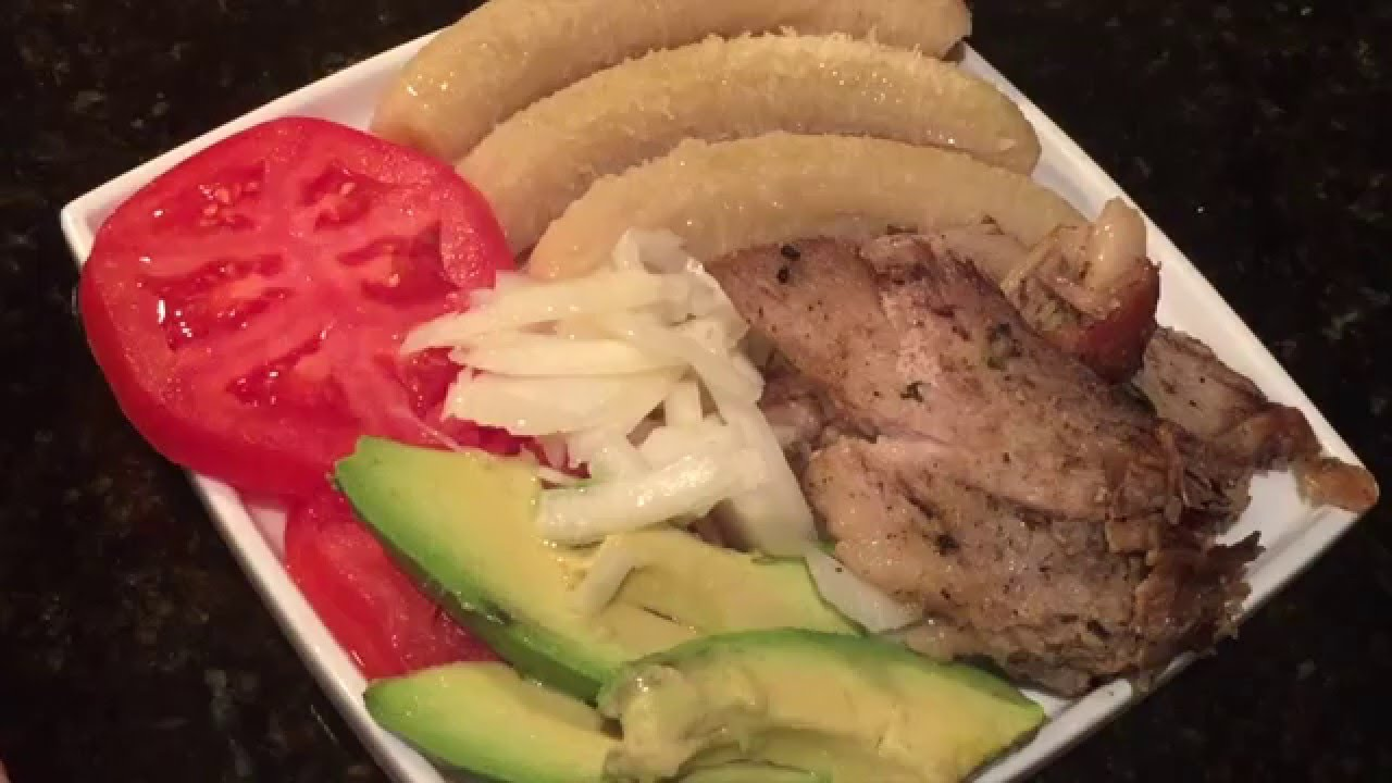 calorias del guineo verde cocido