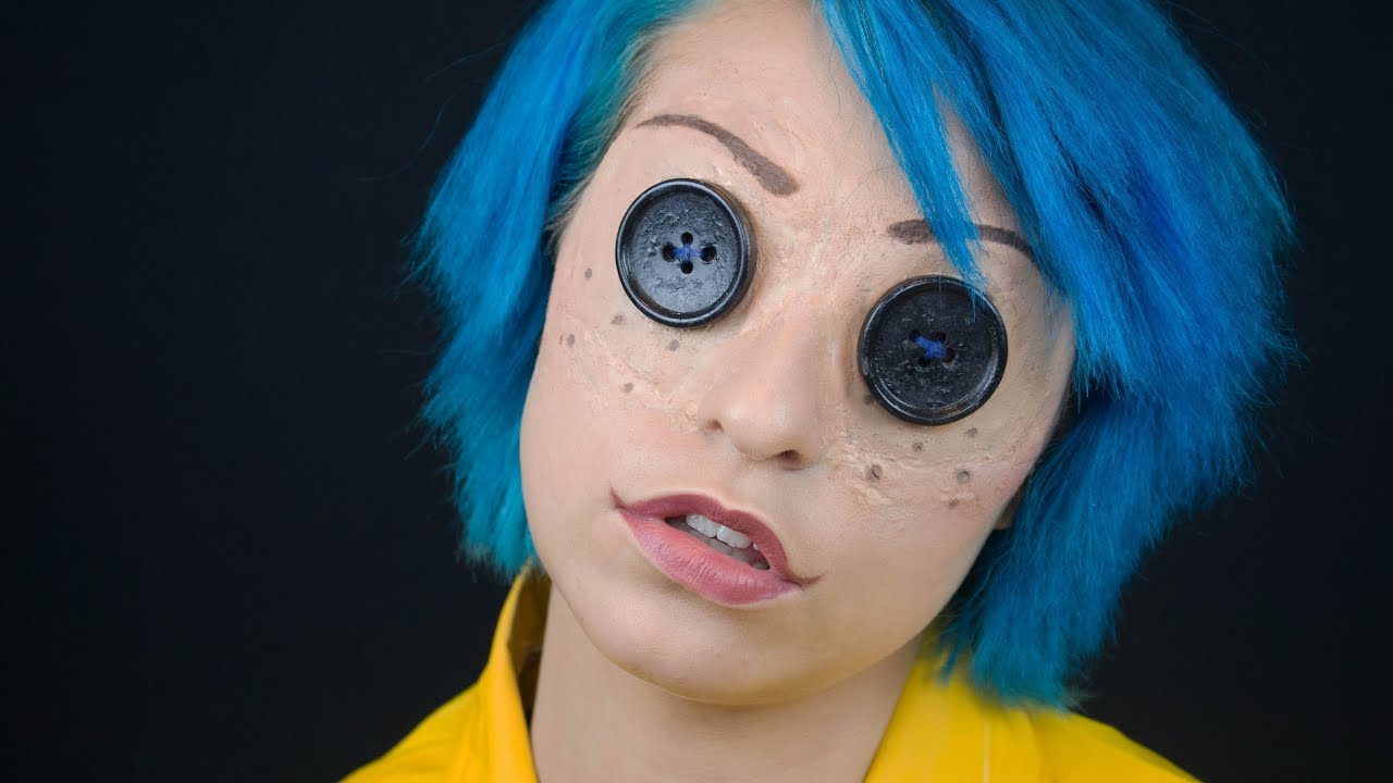 Coraline Doll Makeup Tutorial 31 Days Of Halloween Youtube