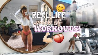 MY REAL LIFE WEEK OF WORKOUTS | WORKOUT WITH ME FOR A WEEK! GTPTTB EP 6
