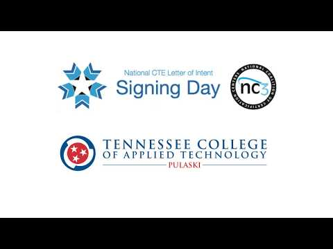 National CTE Letter of Intent Signing Day at TCAT-Pulaski 2/15/2018