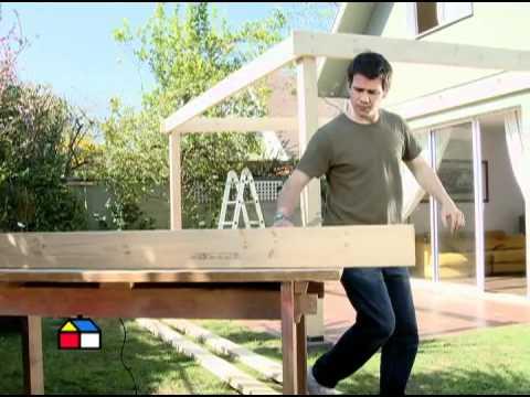 C mo construir un cobertizo de madera segunda parte - Como construir una pergola de madera ...