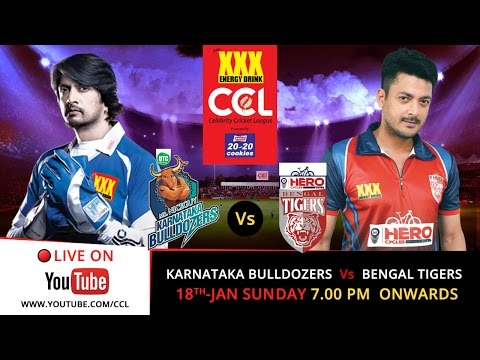 CCL 5 LIVE : Karnataka Bulldozers V/s Bengal Tigers