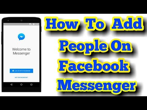 How To Add People On Messenger Without Friend On Facebook