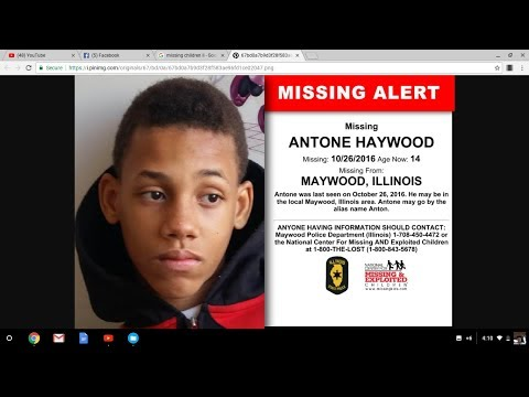 A LIST OF MISSING AND/OR ENDANGERED CHILDREN IN THE STATE OF ILLINOIS