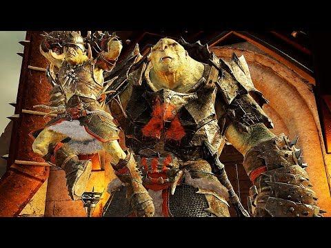 SHADOW OF WAR - HIGH Level 555 Ironclad Overlord Fiery Warmonger Citadel Boss Battle |