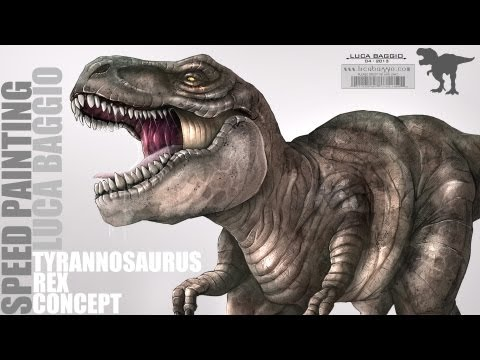 ✘ Full SpeedPainting - Tyrannosaurus Rex