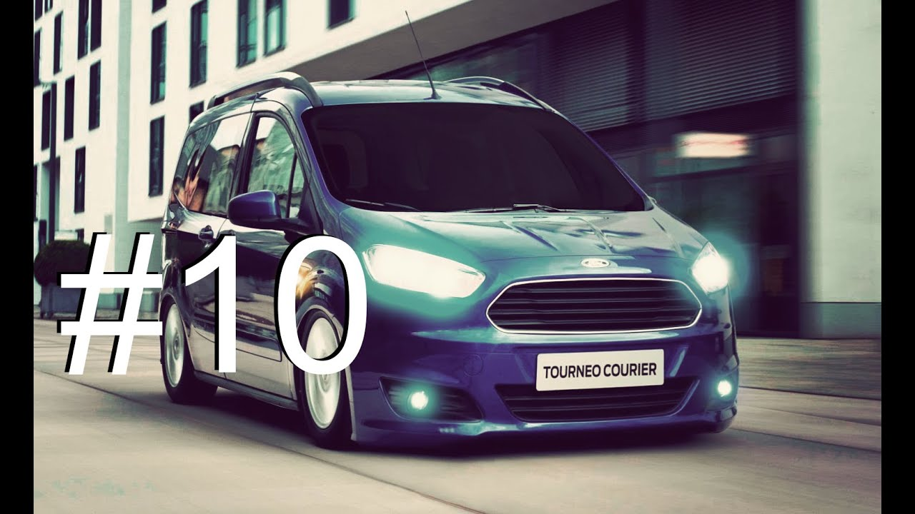 Ford Tourneo Courier Renk Efekti Photoshop Araba