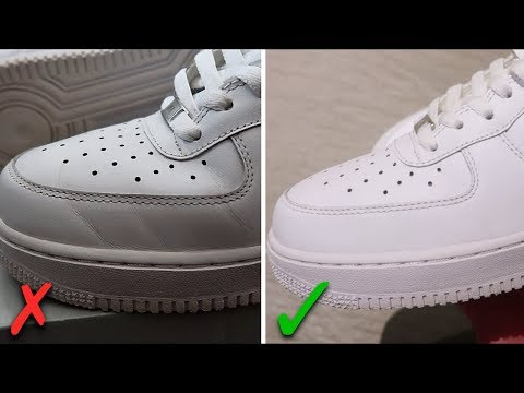 How To Get Creases Out Of Air Force 1's (BEST WAY!)