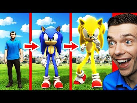 NEW Michael Becomes SUPER SONIC In GTA 5 (Fastest Mods)