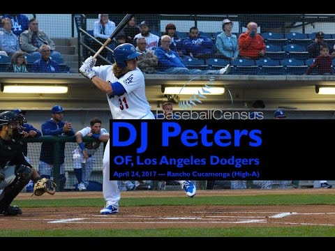 DJ Peters, OF, Los Angeles Dodgers — April 2017