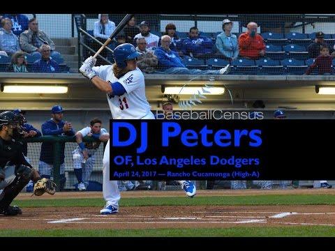 DJ Peters, OF, Los Angeles Dodgers — April 2017