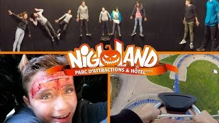 vlog sensations fortes pour halloween  nigloland manges attractions