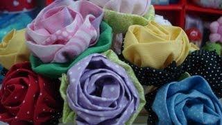 Rosa de tecido – Artesanato – passo a passo