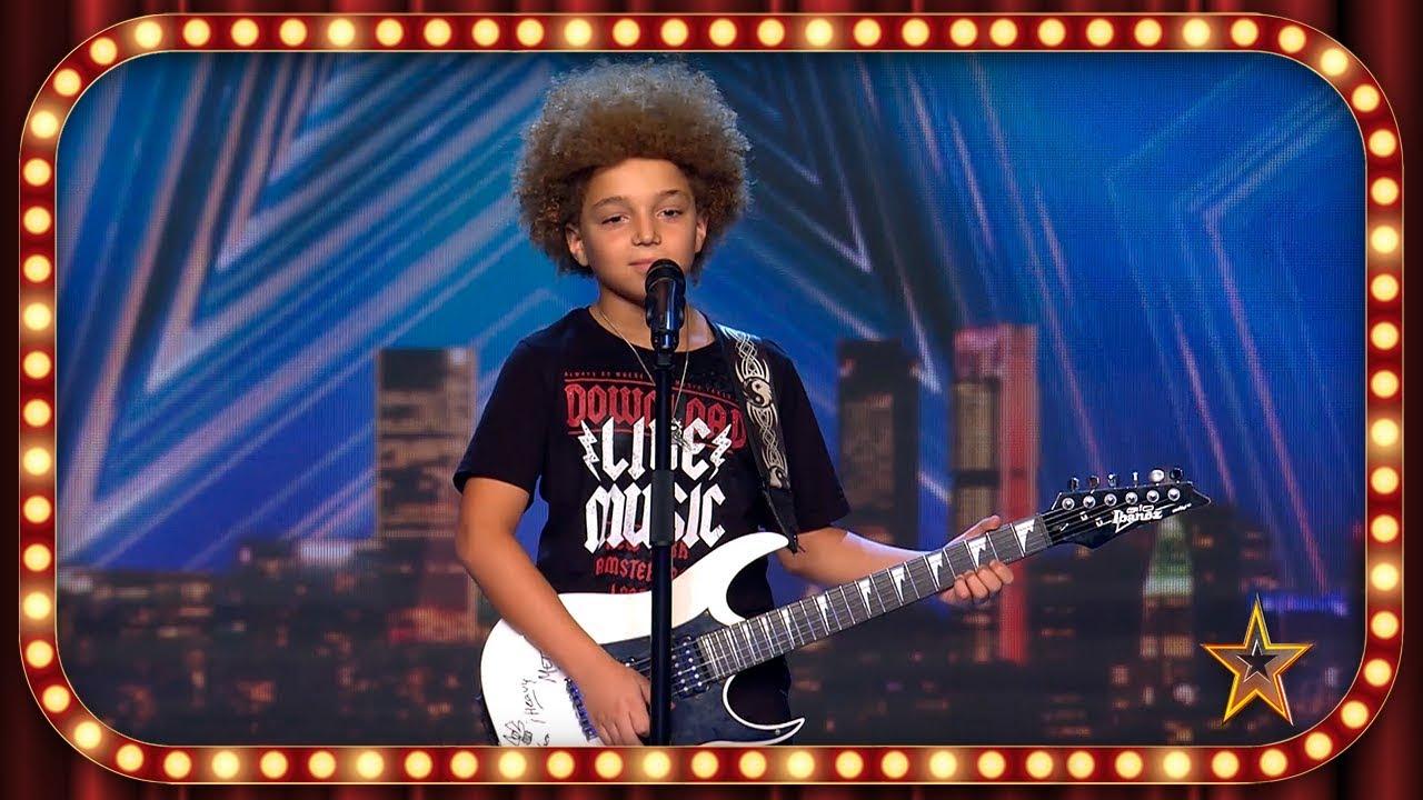 Tiene solo 9 AÑOS y toca la GUITARRA como un VERDADERO ROCKERO | Inéditos | Got Talent España 2019