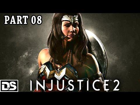 Injustice 2 Gameplay German Wonder Woman vs Captain Cold/Cheetah- Let