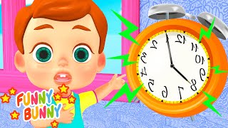 Hickory Dickory Dock Song   Nursery Rhymes   Funny Bunny