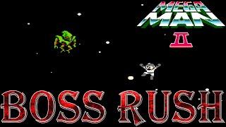 Mega Man 2 - Boss Rush (All Boss Fights, No Damage)