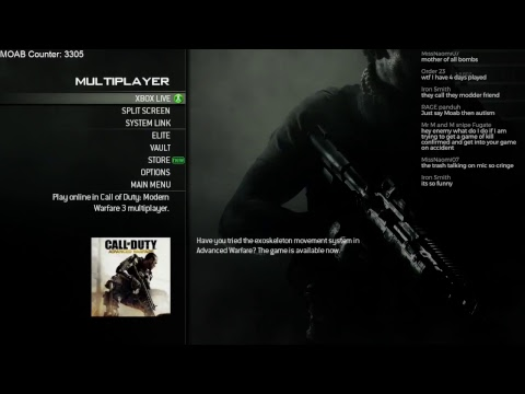 """MW3 """"LIVE"""" - Randoms Think I Have Aimbot! (6 MOABs this Stream)"""